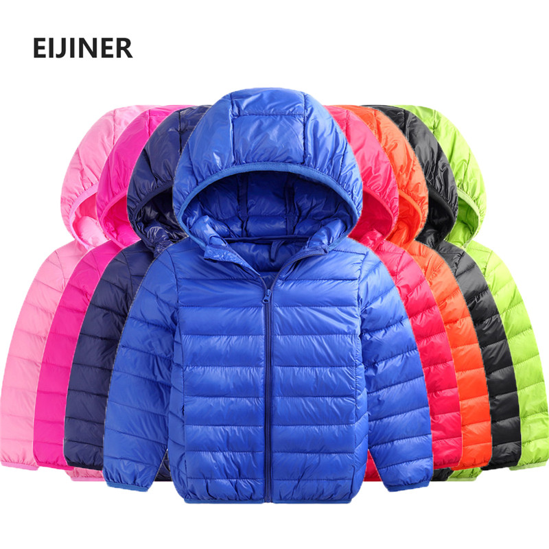 ac4362e45 Children Winter Jacket Coat 90% Duck Down Light Boys Girls Jackets Autumn  Baby Down Coat Jackets Outerwear 1 2 4 6 8 12 14 Year