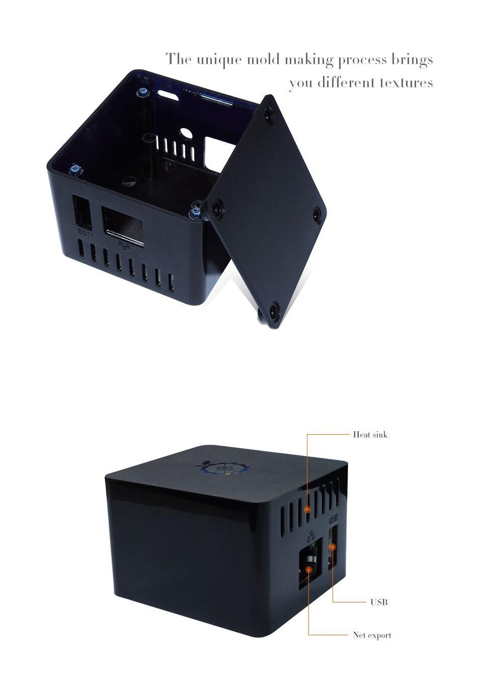 Оранжевый Pi Черный ABS защитный чехол: который подходит для Orange Pi Zero с платой расширения, не подходит для Zero Plus2