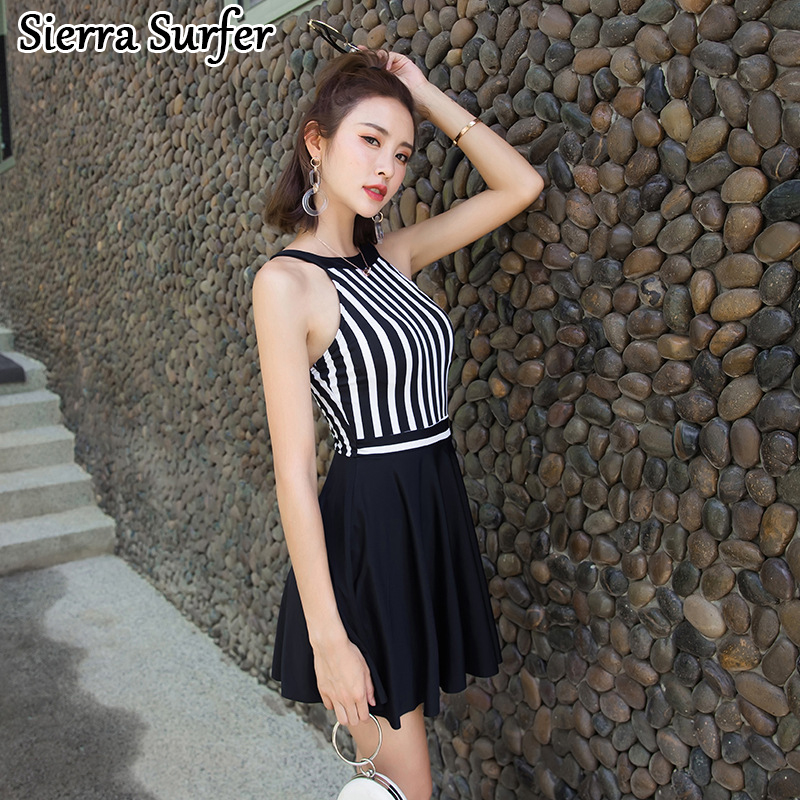 One Piece Swimsuit Cheap Sexy Bathing Suits May Beach Girls Bikinis Women 2018 Japanese New Girl Navy Striped Polyamide Suit cheap sexy bathing suits swimwear one piece female may beach girls one piece swimsuit 2017 korea black ladies classic high waist
