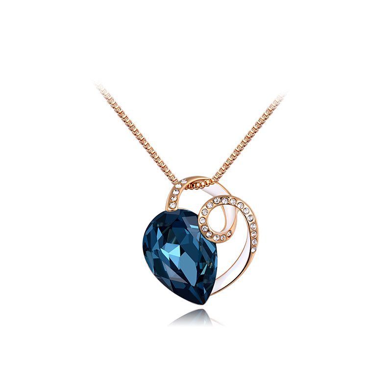 T N 1983 High End Crystal Jewelry Lady S Love Symbol Blue