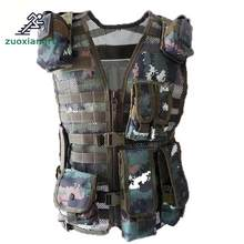 Police Tactical Multi-pocket Vest Outdoor Camouflage Military Body Armor Sports Wear Hunting Vest Army Swat Molle Vest(China)