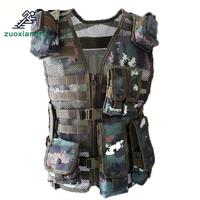 Police Tactical Multi pocket Vest Outdoor Camouflage Military Body Armor Sports Wear Hunting Vest Army Swat Molle Vest