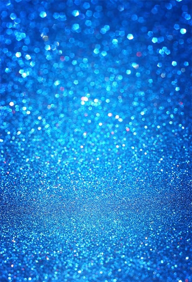Laeacco Blue Glitters Light Bokeh Scene Baby Children Photographic Backdrops Customized Photography Background For Photo Studio