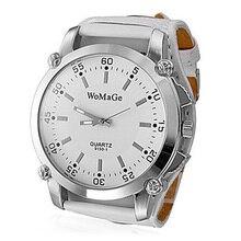 Новейший бренд Womage Роскошные наручные часы повседневные и модные кварцевые кожаные ремешки для часов большие часы женские популярные дизайнерские