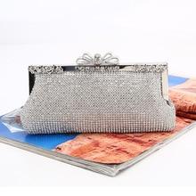 Damskie dżety torby wieczorowe srebrne torebki diamenty łańcuszkowa torba na ramię kobiece modne torebki torebki torebka bankietowa torebka imprezowa