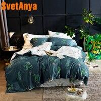 Svetanya Plants Egyptian Cotton Bedding Sets Sheet Pillowcases Duvet cover set Twin Queen King Double Size Bedclothes