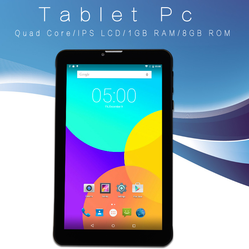 7 Inch small computer tablet pc 3G Phone Call Android Tablets Pc WiFi GPS Bluetooth FM Quad core Dual Camera Dual SIM Card Phone