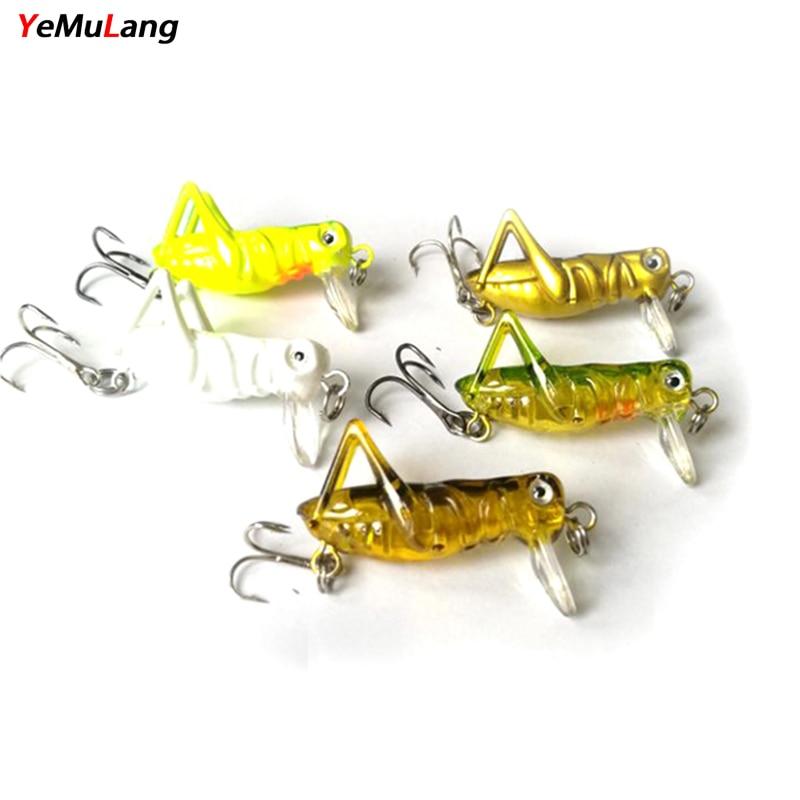 YeMuLang 5 Unids / lote Cebo de Pesca Duro Cebo Artificial Insectos - Pescando