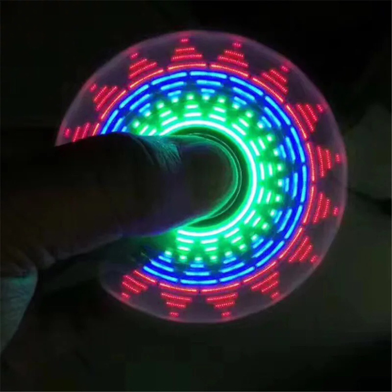 Night Toy Random Color 18 Multi-styling Colorful Luminous Fidget Spinner Stress Relief Toy Children's Novelty Toy Kids LED Toy(China)