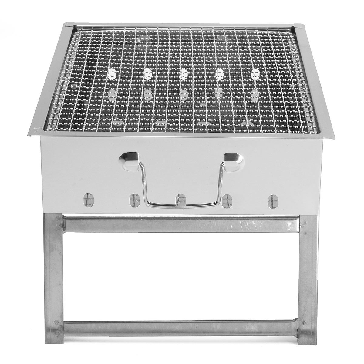 Portable Stainless Steel Grill Stove Rack Pan Roaster Outdoor ...