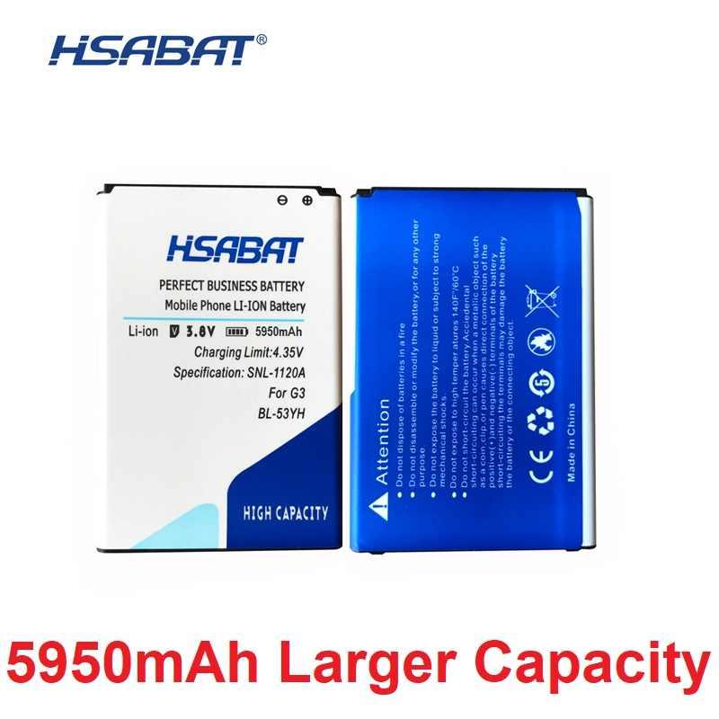 HSABAT BL-53YH BL-51YF BL-51YH BL-42D1F BL-45B1F BL-44E1F для LG G3 G4 G5 V10 V20 высокое Ёмкость акумуляторная батарея