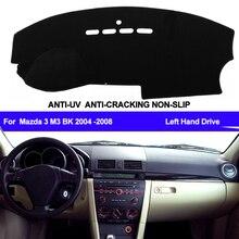 غطاء لوحة قيادة السيارة التلقائي داش حصيرة داش الوسادة داشمات المضادة للأشعة فوق البنفسجية لمازدا 3 Mazda3 M3 BK 2004 2005 2006 2007 2008 محرك اليد اليسرى