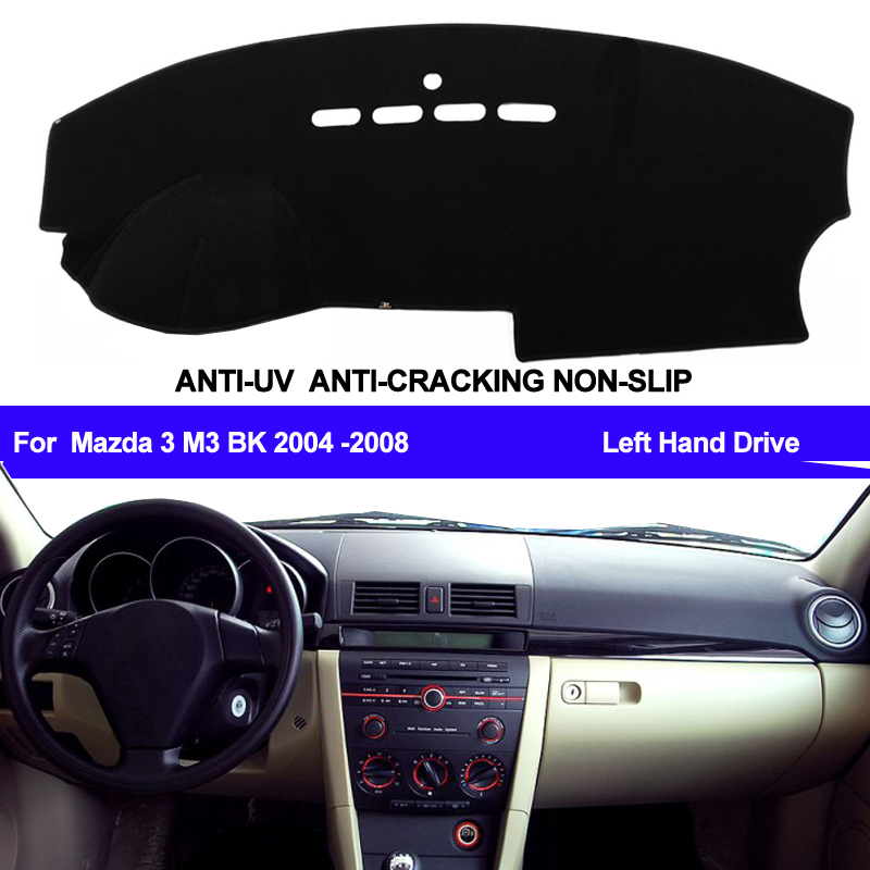Автомобильный коврик для приборной панели, автомобильный коврик для приборной панели, защита от уф лучей для Mazda 3 Mazda3 M3 BK 2004 2005 2006 2007, левый р...