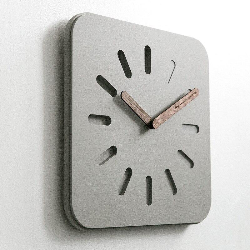 Mode créative horloge murale européenne moderne minimaliste tenture murale salon horloge maison horloge atmosphérique muet horloge - 3
