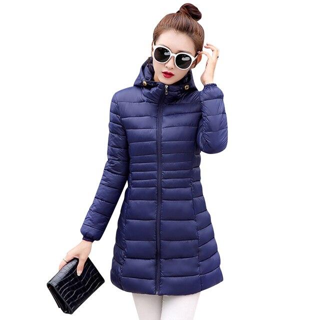 2016 новая мода зимние женские куртки длинные стройные пий размер с капюшоном пальто и пиджаки высокое качество теплая куртка