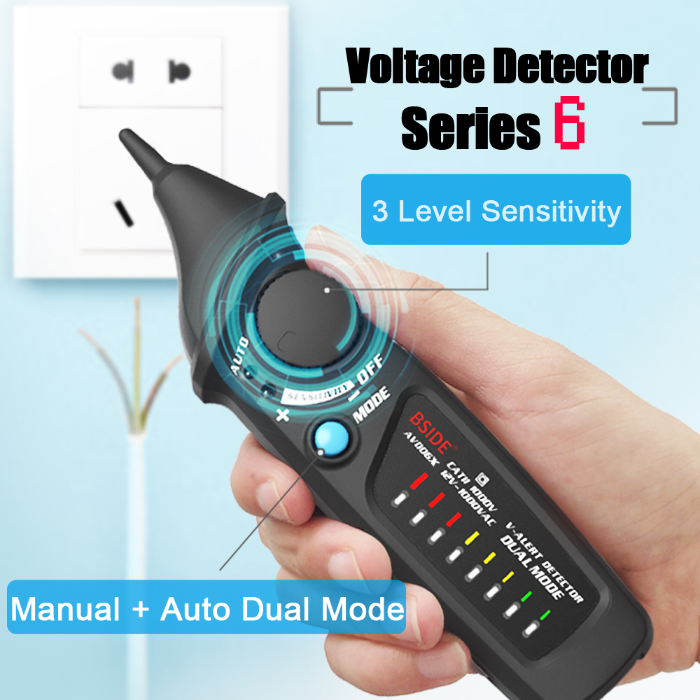 Non Contact AC Voltage Detector in Pen Shape with 8 LED Indicator and Self Test Function 1