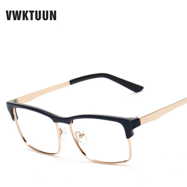 VWKTUUN Vintage Oversized Eyeglasses Frame Retro Business Retro ...