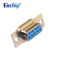 Free Shipping 10pcs RS232 Serial Port Connector DB9 Female Socket Plug Connector 9pin Copper RS232 COM
