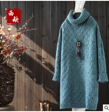 New product launch in the spring of 2017, the original design loose big yards knitting cotton ladys sweater