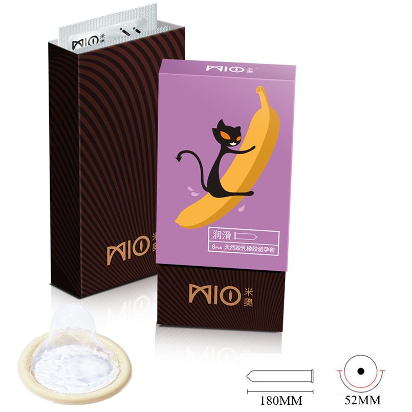 MIO Lubricating Ultra Thin Condom 12 24 48Pcs 1 Lot Natural Latex Water Soluble Smooth Surface Condoms for Men Sex Shop Product in Condoms from Beauty Health