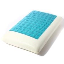 Slow rebound memory foam gel cool cooling pillow 50x30cm neck cervical protective healthcare pillows Travel Sports Entertainment