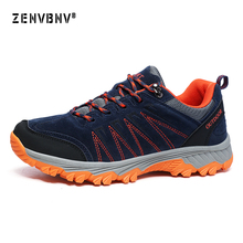 Zenvbnv Plus Size 36-45 Brand Hiking Shoes Men Boots Unisex Mountain Climbing Outdoor Sport Trekking Sneakers