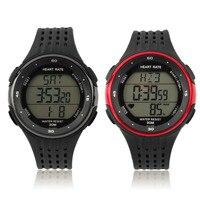 Hot gym fitness reloj sin hilos de la correa del pecho relojes ritmo cardíaco Monitores reloj contador de calorías + cinturón de pecho 2 unids