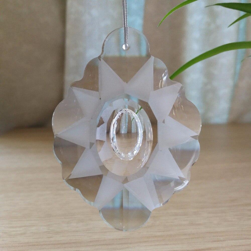76mm 8 unidades De araña De Cristal transparente colgantes candelabro De Cristal