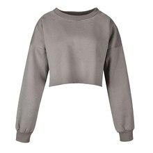 Sweatshirt sexy belly button Sweatshirt women clothes 2019 Cotton Solid color Oneck fleece vogue Sweatshirt New arrive fashion все цены