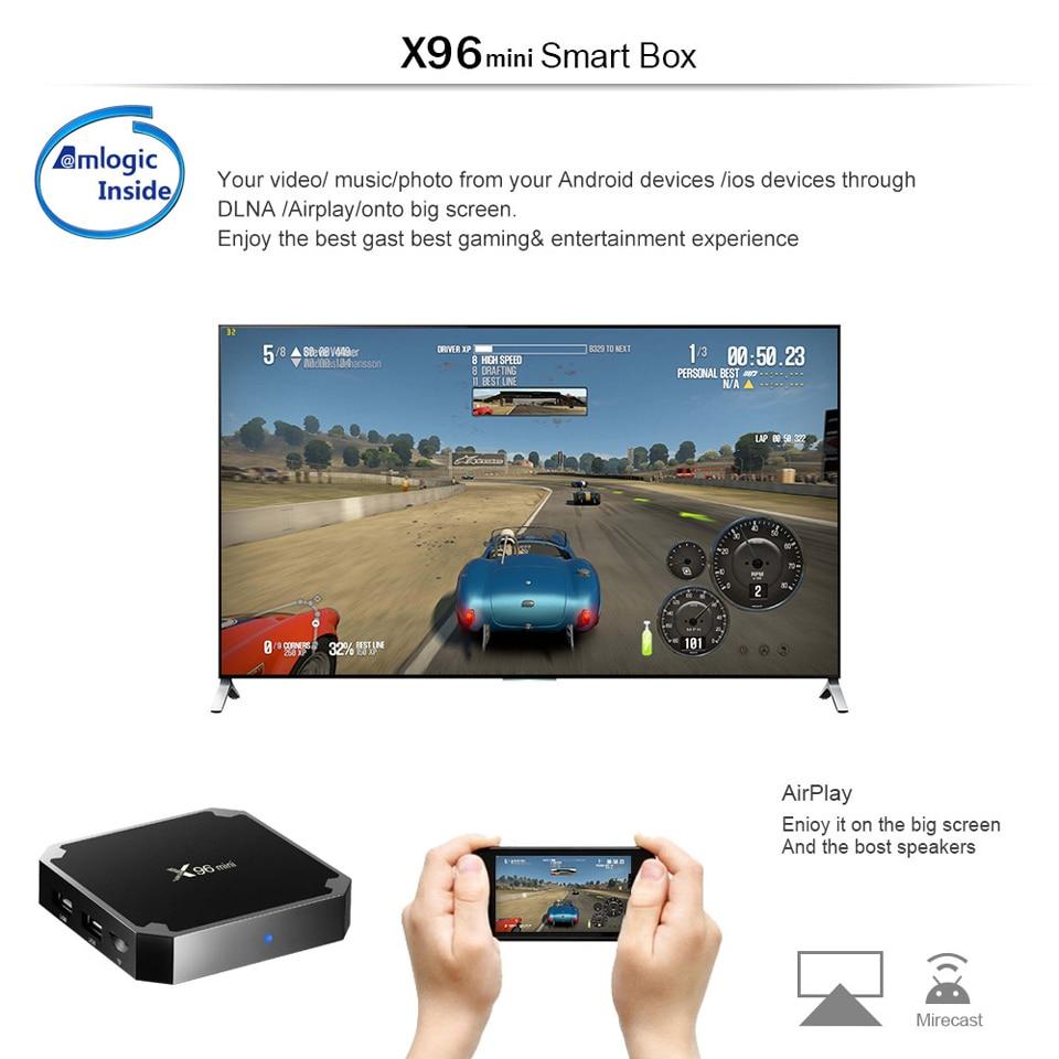 X96 Mini France IPTV Receiver Android 7.1 2GB 16GB Wifi 4K