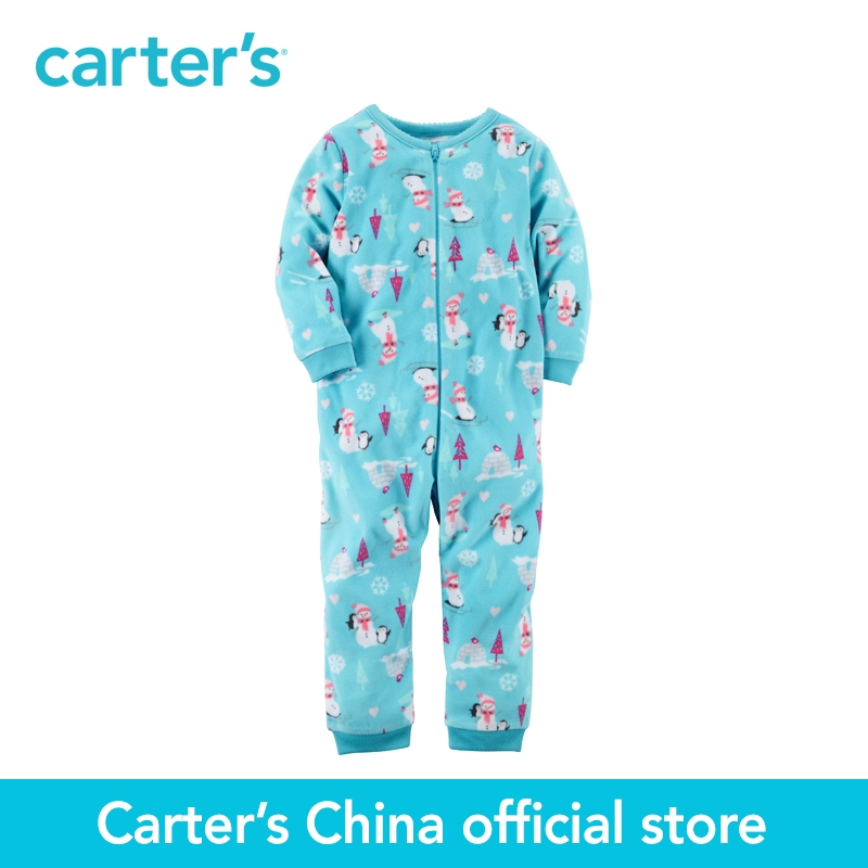 Carter's 1pcs baby children kids 1-Piece Footless Fleece PJs 337G219 ,sold by Carter's China official store  carter s 1 pcs baby children kids long sleeve embroidered lace tee 253g688 sold by carter s china official store