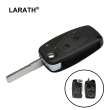 LARATH New Replacement 2 Buttons Flip Folding Remote Key Shell Fob Car Cover for Fiat Iveco Blank Key Blade Car Key Case