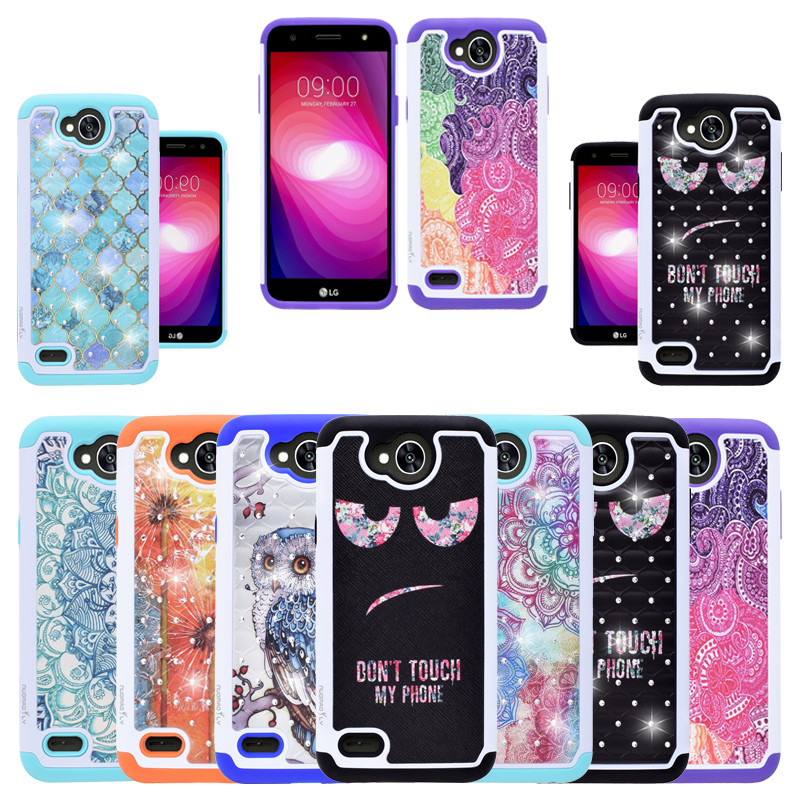 new product 1c7c2 7606d US $4.89 |Nuomaofly Studded Crystal Case For LV 7 Back Cover For LG X Power  2 / LG LV7 / LG Fiesta LTE / LG X Charge Phone Cases-in Fitted Cases from  ...