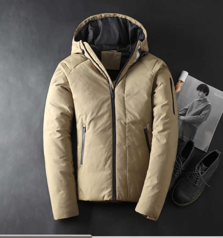 2019 abrigo de invierno para hombre abrigo grueso cálido de manga larga para hombre chaqueta con tapa negro verde gris M L XL 2XL 3XL
