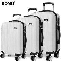 8a539b3fc KONO rodante maleta equipaje en carro de mano caso bolsas de viaje 4 ruedas  Spinner ABS