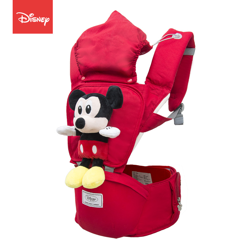 Disney Cartoon Breathable Baby Carrier Mickey Infant Comfortable Sling Minnie Backpack Toddler Detachable Front Facing Stool disney baby carrier front facing infant breathable comfortable sling mickey minnie backpack toddler detachable carrier