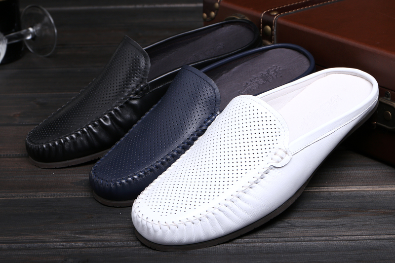 db9d1bb88 White Black Blue Driving Shoes Flats Slip On Loafers For Men ...
