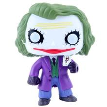 Funko pop 12 см Джокер Бэтмен, Темный рыцарь, серия злодеев, анимация, фигурка, ПВХ модель, игрушки для детей