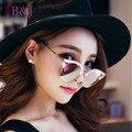 Novo Designer de moda Retro mulheres rodada círculo óculos Cat Eye Semi aro óculos de sol do Vintage óculos óculos de sol