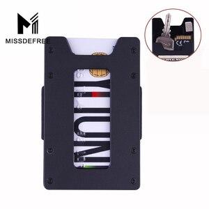 Минималистичный алюминиевый тонкий кошелек для мужчин и женщин, мини металлический передний карман, кошелек и держатель для кредитных карт...