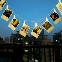 2M 5M 20LED light string photo holder someone Christmas New Year party wedding home dormitory decoration fairy battery