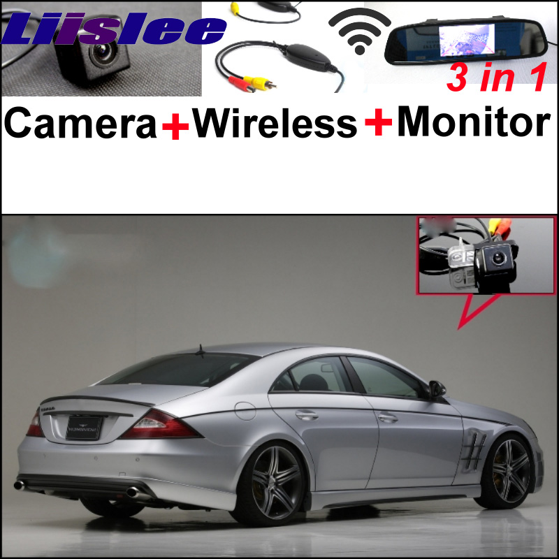 For Mercedes Benz CLS MB C219 W219 3 in 1 Special WiFi Camera + Wireless Receiver + Mirror Monitor Back Up Parking System liislee for mercedes benz cl mb w216 cls w218 special camera wireless receiver mirror screen 3in1 backup parking system