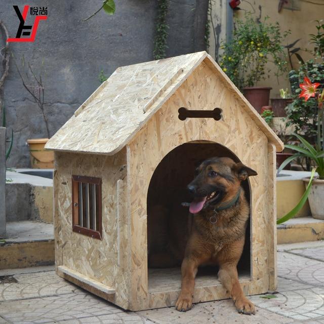 Al aire libre gran casa de perro de madera, a prueba de lluvia ...
