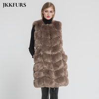 2019 New Arrivals Women's Faux Fur Vest Furry Fake Fur Winter Warm Fur Luxury Outerwear Autumn Fashion Long Style Gilet S8405