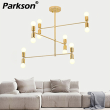 12 heads Nordic Modern Gold LED Pendant Lights dinning room hanglampen E27 LED Lamp Castle Edison Light Bulb hanging lamp стоимость
