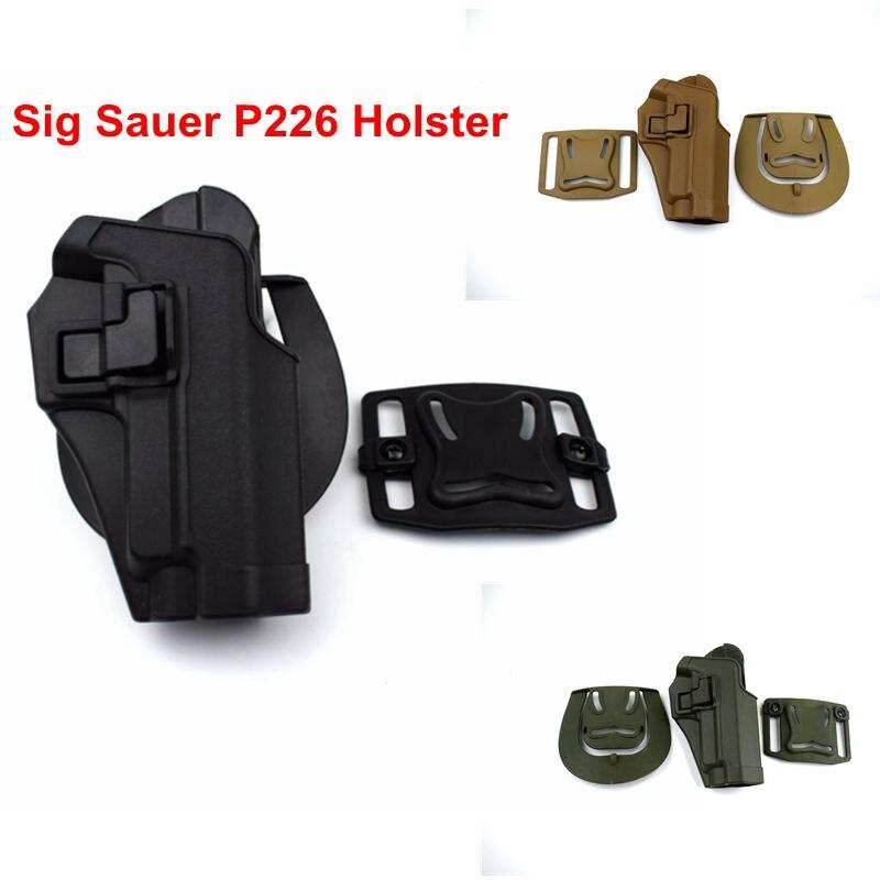 Sig Sauer P226 Tactical Holster Paintball Shooting Airsoft Holder Hunting Combat War Games Gun Holster Belt Adapter