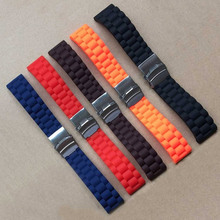 Silicone Watchband Watches Replace Electronic Wristwatch Band Sports Watch Straps LXH