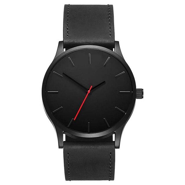 2018 Large Dial Top Luxury Brand Men Watch Men's Sport Quartz Clock Man Leather