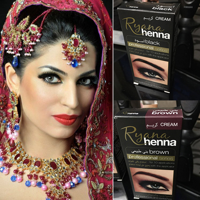 Brand Makeup Eyebrow Henna Eyelashes Cream Natural Plant Colour Mehendi Eyebrow Tint Set Dye Brown Black For Eyebrows Tattoo