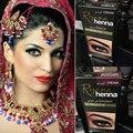 Marca de Maquillaje de Cejas Pestañas Crema Natural de la Planta de Henna Color Mehendi Conjunto Tinte Tinte de Cejas Marrón Negro Para Las Cejas Tatuaje